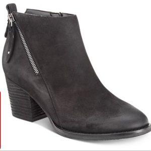 WATERPROOF BLACK SUEDE BOOTIES SZ 7.5 worn once